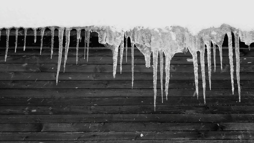 No People Wood - Material Rainy Season Day Sky Outdoors Water Nature Ice Iceicles Cold Weather Cold Frozen Frozen Nature Frozen Water Frozen Photography Snow ❄ Snow Day Snow Blackandwhite Black And White Black & White Black And White Photography