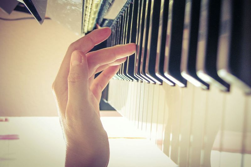 Music Piano Keys Practising Hands At Work Handmade For You TakeoverMusic Sensitivity Delicacy Human Hand One Person Indoors  Musician Musician Life Close-up One Woman Only People Adult Adults Only Day Musical Instrument Music Is My Life Piano Key Pianist Passion Piano Lover Piano Moments