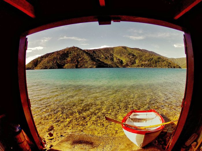 Boat on lake Picton  Newzealand Purenewzealand Boat Lake