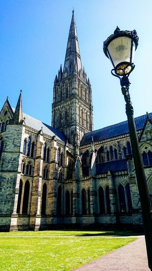 Cathedral Sky England South Coast Salisbury Cathedral  City Architecture Sky Building Exterior Built Structure Historic Building