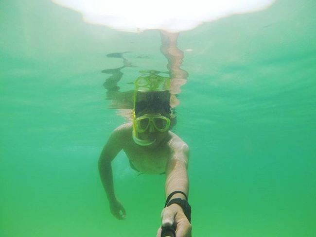 Underwater Selfie 😂😂😂 Selfie Underwater Green Andaman Sea Ocean Snookling Yi Yiactioncamera Asian  Myanmar VirginIslands Burma ASIA Southeastasia