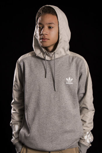 Adidas One Person People Hood - Clothing Hooded Shirt Adults Only Lifestyles Standing Adult Only Men Young Adult One Man Only Studio Photography Portrait Photography Adidas Originals Adidasoriginals Adidas Studio Fashion Mature Adult Model Adult Dark Adults Only Looking At Camera Studio Shot