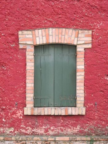 Italy Brick And Mortar Old Window Wooden Windows Textures And Surfaces ArchiTexture Architectural Detail Red Plastered Wall Concrete Wall Brick Arch