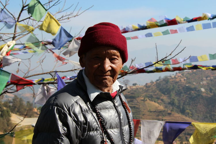 Buddhism Namo Buddha Nepal Nepalese One Senior Man Only Outdoors Portrait Sherpa Tibetan Buddists