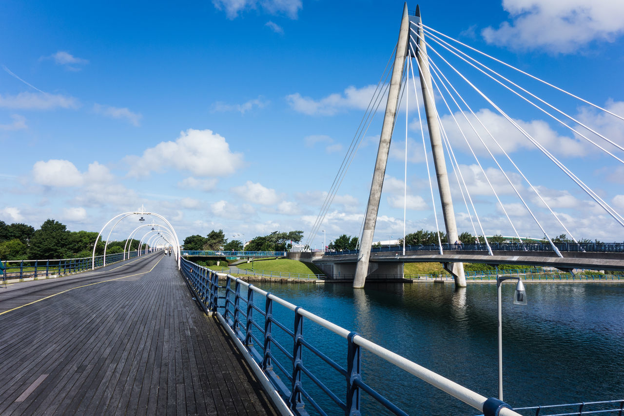 Marine Way Bridge And Southport Pier Against Sky