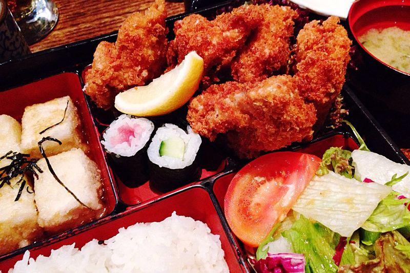 Chicken Katsu Bento Box Agedashi Tofu Rice Miso Soup Salad Food Japanese Food
