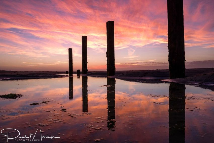 Sunset Sunset_collection Sky Landscape_Collection Sunrise_sunsets_aroundworld Guernsey Water_collection Beach Life Eye4photography  Sunset_captures Beach Groynes Sea And Sky EyeEm Best Shots Seascape