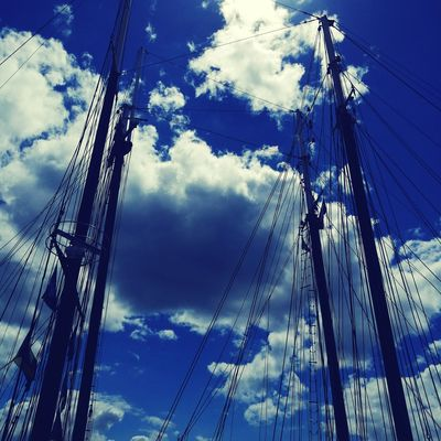 Telephone Line Technology Blue Cable Sky Cloud - Sky
