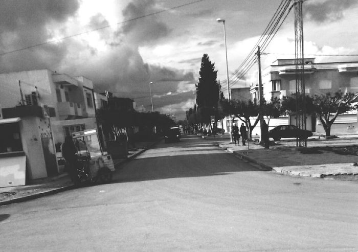 The Places I've Been Today Black & White My Photography. ❤ Phoneography Lihts And Shadows On The Road From My Point Of View Check This Out Sky