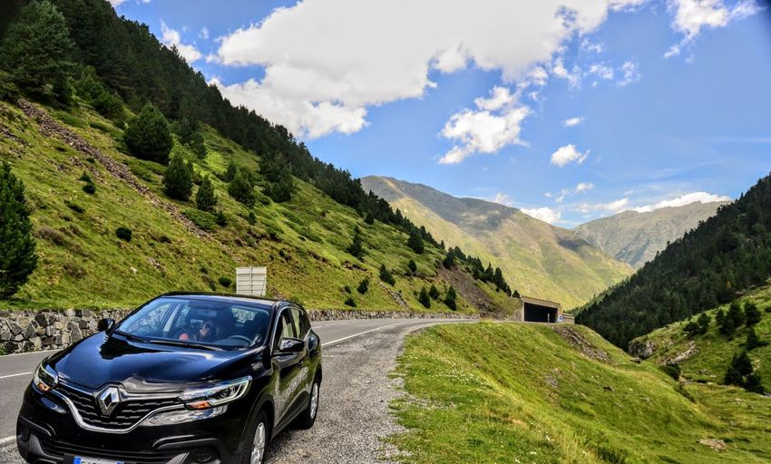 Lost In The Landscape Mountain Car Transportation Sky Cloud - Sky Land Vehicle Nature No People Mountain Range Road Day Landscape Scenics Outdoors Beauty In Nature Kadjar Renault Renaultkadjar Renault Kadjar