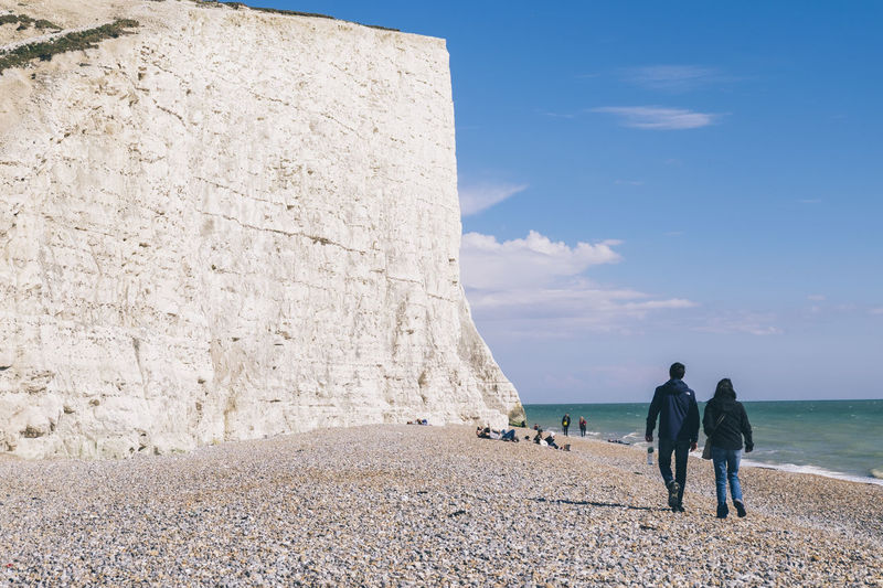Beach British Landmar British Landscape Friends Friends ❤ Frienship Goals Hanging Out London Nature Santa Claus Seven Sisters Cliffs Tranquility United Kingdom Vacations