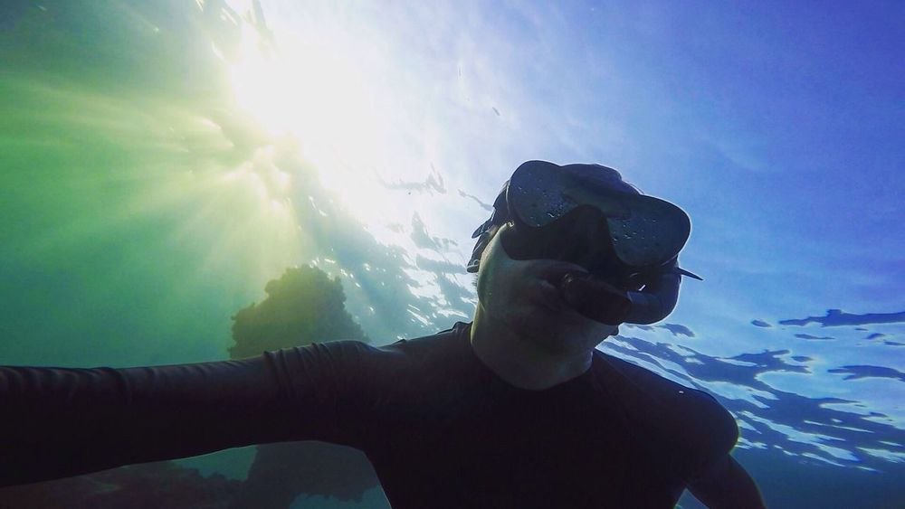 Free diving in the Caribbean Diving Ocean Snorkeling Beach Holiday Traveling Caribbean Underwater Water Sports