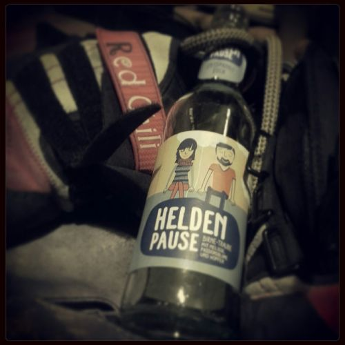 Exhausting Bouldering session, earned that Heldenpause :D