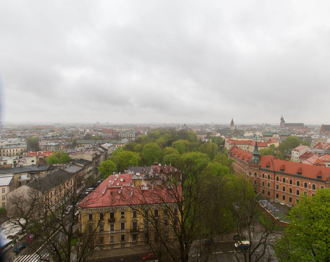 Great view from the bell tower Wawal Zamek Krolewski (Wawel Royal Castle) Architecture Built Structure City Cityscape Cloud - Sky Crowded Neighborhood Map Outdoors Sky