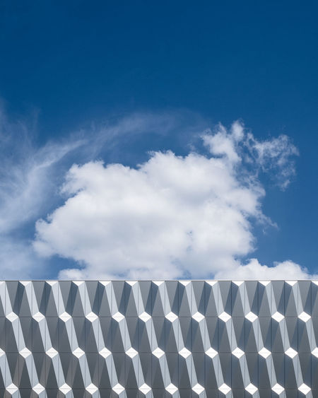 Cloudy Sky Low Angle View No People Outdoors Blue Day Minimalism Minimalist Photography  Fujix_berlin Ralfpollack_fotografie Cloud - Sky Pattern Environment White Color Clouds And Sky