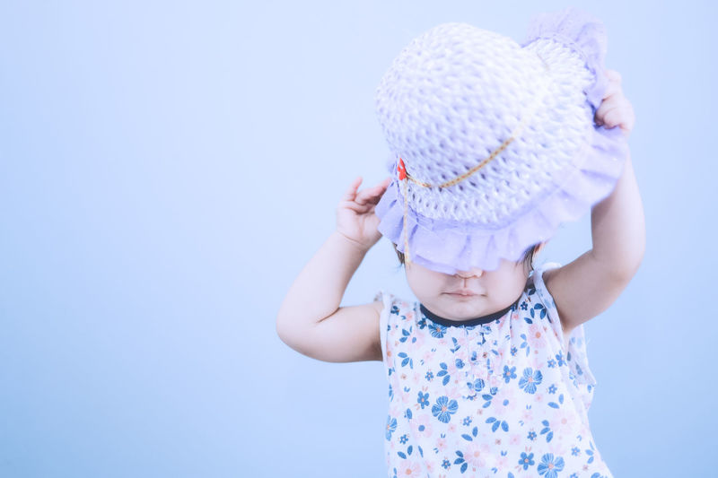 Cute baby girl with purple hat Purplehoodie Purple Purple Color Child Childhood Innocence Cute Baby Young Real People Hat One Person Front View Babyhood Clothing Casual Clothing Copy Space Toddler  Leisure Activity Looking Human Arm Arms Raised