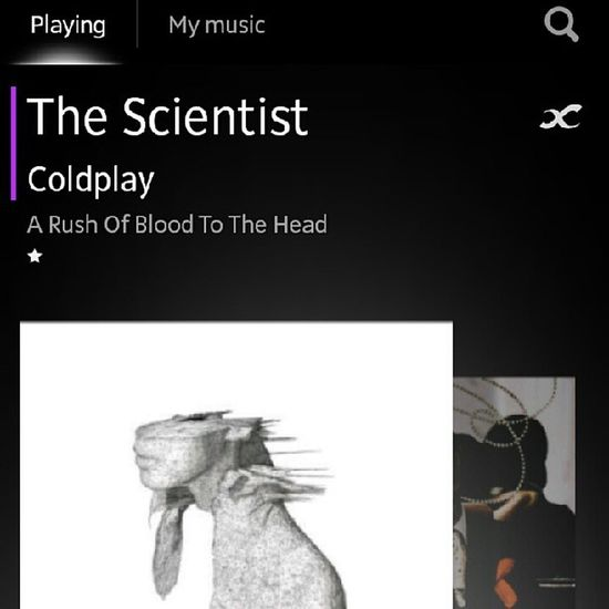 Simply amazing ♥♥♥ Coldplay Arushofbloodtothehead Thescientist Nowplaying chrismartin jonnybuckland guyberryman willchampion rock pop music love soothing song instamusic love