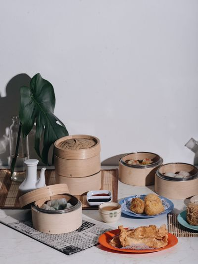 Good morning. dim sum for breakfast Foodspotting Breakfast Chinese Dimsum Food And Drink Food Plant Indoors  Still Life Freshness Table No People Nature Choice Container Wellbeing Kitchen Utensil Variation Leaf Sweet Food Plant Part Eating Utensil Healthy Eating Copy Space