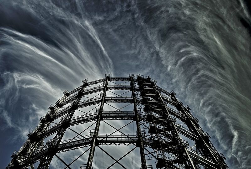 Amazing sky....at Gasometer in Schöneberg , Clouds And Sky , Architecture
