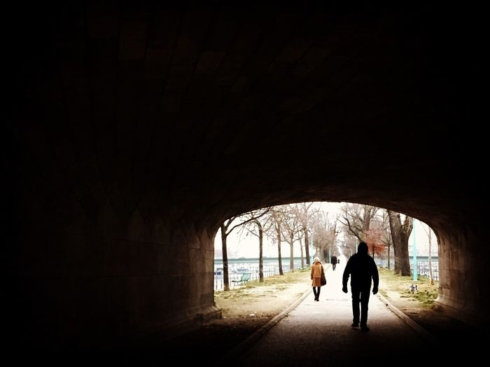 Paris City Allée Des Cygnes Quay Tunnel Dark Silhouettes Trees Nature Walk Light And Shadow Winter Streetphotography Arch From My Point Of View Eye4photography  EyeEm Gallery Taking Photos Hello World Picoftheday Outdoors