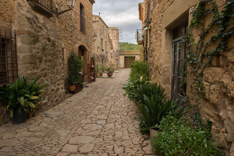 Catalonia Country Rural SPAIN Architecture Building Exterior Built Structure Day Girón Medieval Nature No People Old Outdoors Peratallada Plant Sky