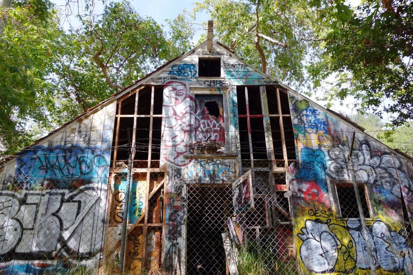 Murphy's Ranch Graffiti On A Hike Abandoned Buildings Urban Tagging