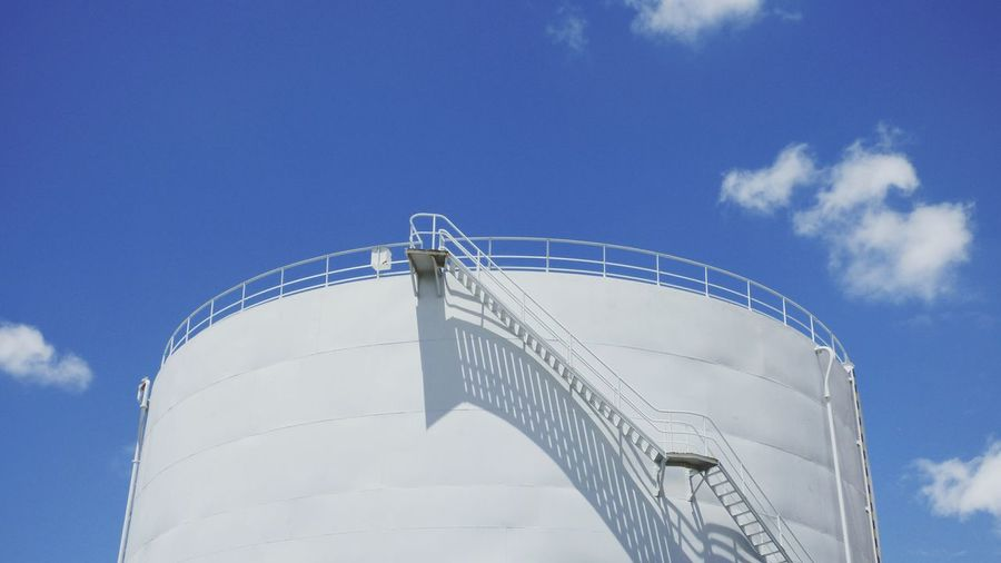 Low Angle View Of Water Tank Against Sky