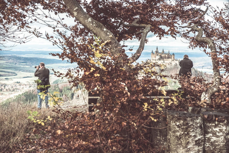 Sightseeing Burg Hohenzollern Day Full Length Leisure Activity Nature Old Postcards Herne Bay Outdoors Photographing Photography Themes Sky Southern Germany Swabian Alb Tree