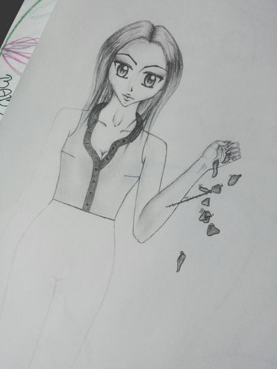 I just draw the picture ? Art Fashion Pencil Drawing