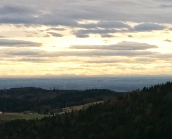 in the far distance you can see the Alps (about 200 km away) Landscape Bavaria No Edit/no Filter Skyporn