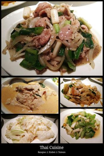 路過就進去吃了~ Thai Food Thai Cuisine 蔥爆豬肉 蝦醬高麗菜 椰汁雞肉 什錦炒三鮮 鹹蛋苦瓜 泰式料理 泰國菜