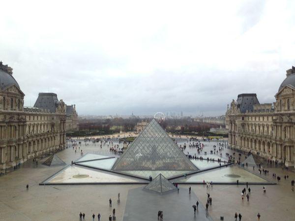 Architecture Louvre Museum Musée Du Louvre Paris Pyramid Pyramide Du Louvre Sky