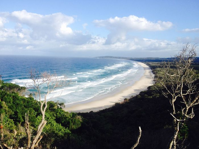 Byron Bay Surf Beach Beauty In Nature Cloud - Sky No People Sea Tranquil Scene Water