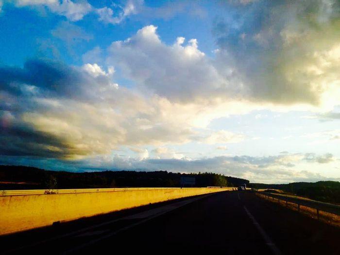 Sunset~Coucher de soleil (日落) Sunset On The Road France