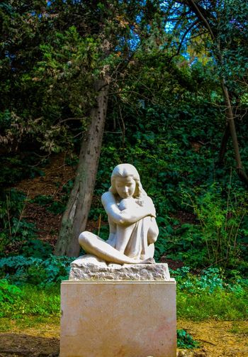 Statue Outdoors Nature Forest Loneliness