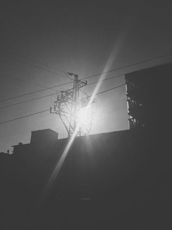 Industrial Built Structure Building Sun Light And Shadow Light Shades Of Grey Electricity  Contrast Blackandwhite Black And White Black & White Blackandwhite Photography Streetphotography City City Life IPhoneography Sunlight