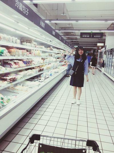 Longtime .... Supermarket Smiling Looking At Camera