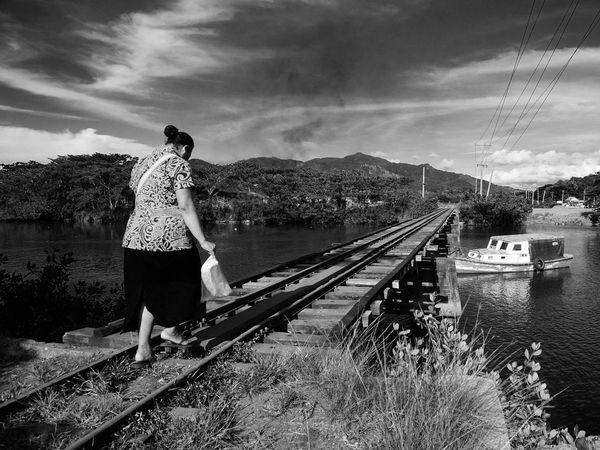 My Year My View Railroad Track Rail Transportation Streetphotography Fiji Islands SUVA FIJI ISLANDS Street Photography Black & White The Street Photographer - 2017 EyeEm Awards