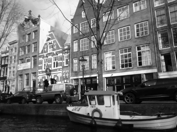 Blackandwhite Nautical Vessel City Window Architecture Building Exterior Built Structure Gondola - Traditional Boat Residential Structure Boat Canal Water Vehicle Side-view Mirror Vehicle
