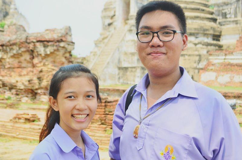 My Friend Just Smile  In Thailday Ayutthaya | Thailand