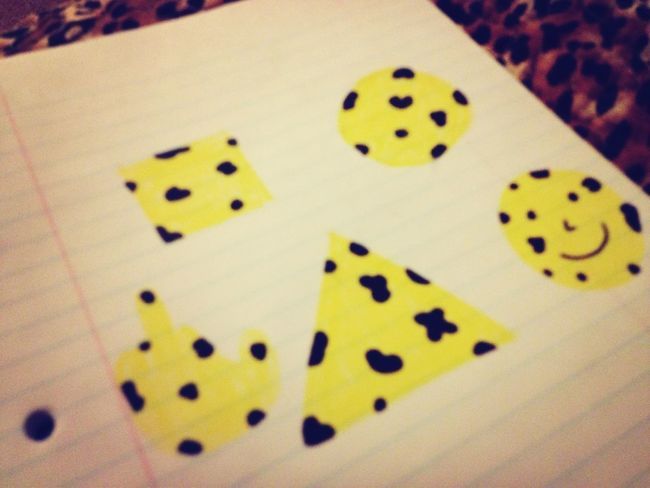 got really bored , so I drew ghetto cheetah print