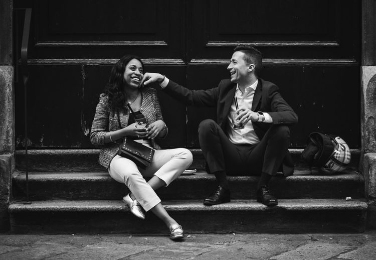 VSCO Street Photography Streetphoto_bw Streetphotography Black And White Blackandwhite Candid Love Full Length Sitting Two People Real People Young Adult Casual Clothing Lifestyles Togetherness People The Street Photographer - 2018 EyeEm Awards 50 Ways Of Seeing: Gratitude #NotYourCliche Love Letter