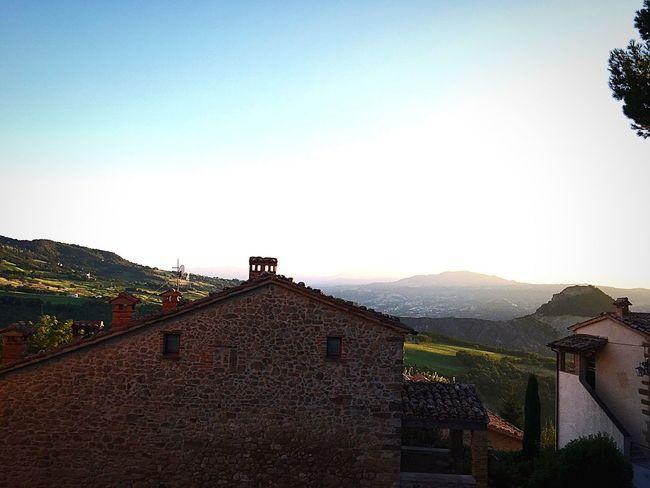 San Leo Emiliaromagna Italy Sunset Landscape