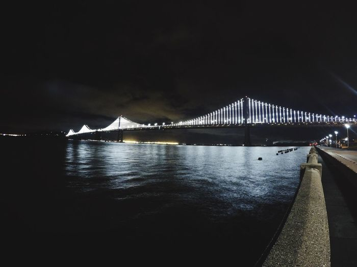 Flawless night in sf Architecture Night Built Structure Connection Bridge - Man Made Structure No People Water Illuminated Sky Outdoors Nature