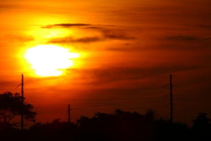 Sun Sunset Sky Orange Yellow Red