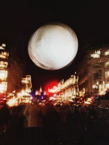 Illusions of a lifetime LumiereLDN Illuminated Building Exterior Architecture Night Built Structure City Moon Outdoors No People Sky Astronomy