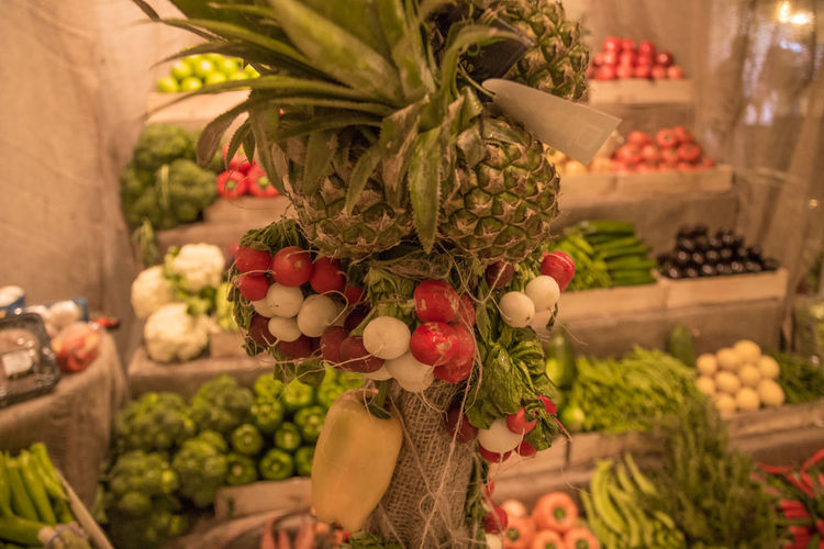 View of fruits for sale in market