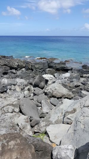 Ocean Rocks And Water Hawaiian Blue Sky Pacific Ocean Island Life