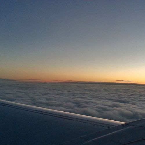 Amazing sunset above the clouds Sky Clouds Sunset PicTakesFromThePlane Planeslover Boeing