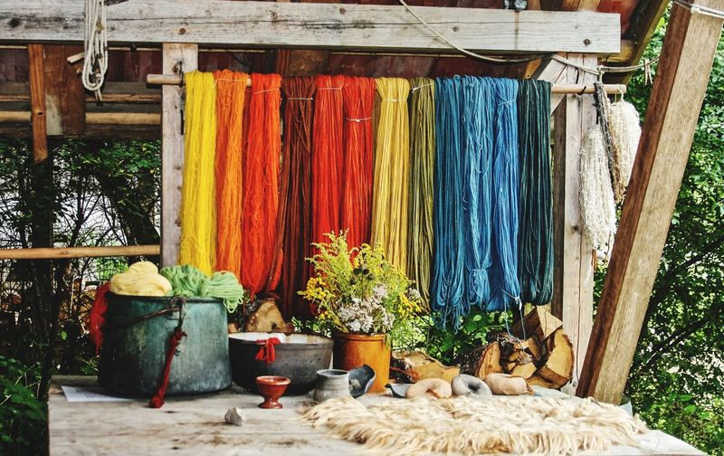Colours Wool Colors No People Day Hanging Outdoors Multi Colored